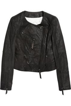 Karl for Net-a-Porter Jacey leather jacket