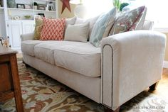 Sources and Tips for reupholstering your sofa...or any piece of furniture!