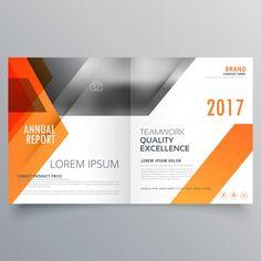 Orange brochure Free Vector