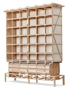 Cathedral Cabinet by Paul Heijnen, Handmade in Netherlands For Sale at Handmade Furniture, Unique Furniture, Contemporary Furniture, Wood Furniture, Furniture Design, Furniture Ideas, 3d Modelle, Furniture Inspiration, Cabinet Doors