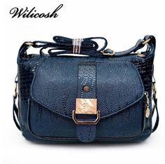 Fashionable Women case Bags shoulder Messager Bags Polyurethane Leather Handbags #Wilicosh #Messengerbag