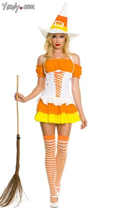 Girls Candy Corn Charmer Costume: A sweeter witch you'll never see ...