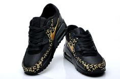 new concept 43eb1 1e9f8 Bad ass black and gold nike cheetah print max shoes