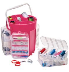 210-Piece Sewing Caddy- Wave bye bye to wardrobe malfunctions! Caddy with removable top and side trays keeps all your sewing accessories organized. Plastic. Imported.  210 PIECE SET INCLUDES: • Assorted thread •Sewing needles •Straight & safety pins •Assorted buttons •Scissors •Tape measure •Thimble •Seam ripper •and more  Shop online 24/7 at tashina.avonrepresentative.com