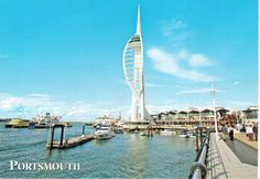 https://flic.kr/p/NMLBtc | Postcrossing GB-842655 | Postcard with a picture of gunwharf quays and a spinmaker tower at Portsmouth, Hampshire in the United Kingdom.  Sent by a Postcrosser in that country.