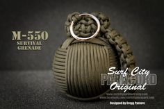 The M-550 is the ultimate in paracord survival products for preppers. Modeled after the famed M-67 hand grenade, the M-550 features over 75ft of 550 paracord in your choice of colors. Inside is a water tight case containing a variety of survival equipment. Carry in your car, hang from your backpack when hiking, or keep it around the house for emergencies.