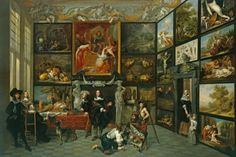 A Cabinet of Pictures   Royal Collection Trust --- painting by Jacob de Formentrou (active Antwerp 1640-59)