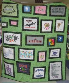 60 Trendy t-shirt quilt ideas shops Quilting Projects, Quilting Designs, Sewing Projects, Quilting Ideas, Sewing Ideas, T Shirt Yarn, T Shirt Diy, Tee Shirt, Baby Quilts