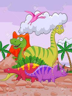 Dinosaur Cartoon Royalty Free Cliparts, Vectors, And Stock Illustration. Image 13496575.