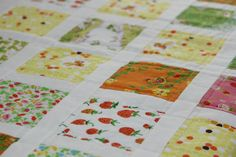 Baby Girl Quilt Heather Ross Briar Rose by CottonLaneQuilts