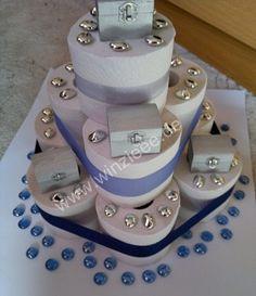 Toilettenpapiertorte zur Hochzeit