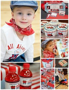 Cute Train Birthday Party via to Zebra Celebrations - in-the-corner