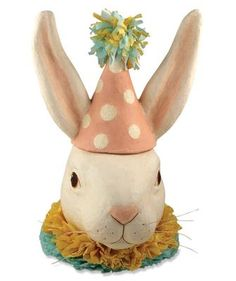 PARTY BUNNY CONTAINER LG : Spring & Everyday : Bethany Lowe
