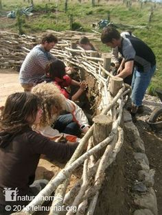 """""""The Celts built their roundhouses from the natural materials available on the land. The roundhouses at Felin Uchaf are built in the same way using only the natural materials available on or near the land. Find out how to build one on www.naturalhomes.org"""""""