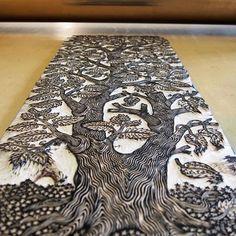 #inked & #readytoprint #woodcut Linocut Prints, Art Prints, Block Prints, Lino Art, Scratchboard Art, Linoleum Block Printing, Wood Burning Crafts, Encaustic Art, Woodblock Print