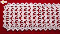 Christmas Filet Crochet Patterns Festive Table Runner Crochet Pattern Looks Fancy Easy Pattern Christmas Filet Crochet Patterns Filet Crochet Name Doily 12 Steps With Pictures. Filet Crochet, Stitch Crochet, Basic Crochet Stitches, Crochet Basics, Crochet Granny, Learn Crochet, Crochet Table Runner Pattern, Crochet Tablecloth, Crochet Doilies