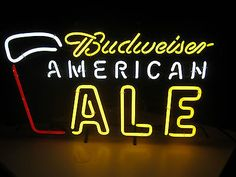 #Budweiser #american ale neon beer sign bar man cave bud light #brewery game room,  View more on the LINK: http://www.zeppy.io/product/gb/2/191219271357/