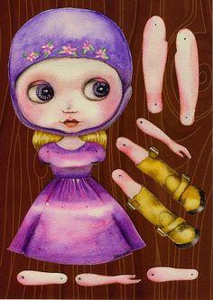 Tutoriales y DIYs: Muñeca de papel - Blythe doll