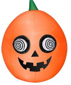he eyes on the pumpkin spin quite fast. The airblown pumpkin its 5-feet tall. The Airblown Inflatable Halloween Pumpkin with Spinning Eyes from Gemmy can ..