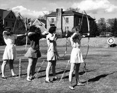 Practice archery.