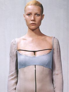 "Gwyneth Paltrow (wearing Prada) in ""Period Drama"" by Steven Meisel for Vogue September 1999"