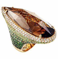 #thaliaexarchou #ring #diamond #smokequartz #jewelry #emerald #design Jewelry Art, Fine Jewelry, Jewelry Design, Unique Jewelry, Designer Jewellery, Gold Diamond Rings, Gold Ring, Colored Diamonds, Handmade Jewelry