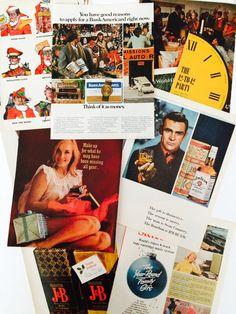 Vintage 1960s Christmas Holiday Ephemera Pack   👁 →  etsy.com/listing/494966075  etsy ❍ etsy.com/shop/museum83 facebook ▷facebook.com/museum83 twitter ❍ twitter.com/museum_83 pinterest ▷pinterest.com/museum83  #SeanConnery #VintageAds1940s #FunnySanta #Boho #Hippie #SexyGirls #ChristmasParty #Liquor
