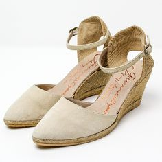 Gaimo Isla Leather Wedge Espadrilles | Spanish Fashion - SPANISH SHOP ONLINE | Spain @ your fingertips #suede #sandals