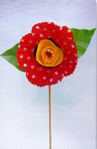 Cupcake Liner Poppy