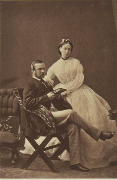 Joie de vivre — Prince and Princess Louis of Hesse, 1864 [in...