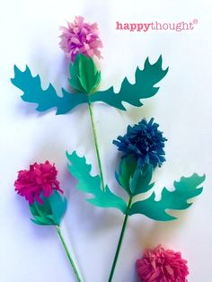 to make a paper thistle Paper craft thistle templates and tutorials for Burns Night Supper ideas. Jan craft thistle templates and tutorials for Burns Night Supper ideas. Fun Crafts, Diy And Crafts, Crafts For Kids, Arts And Crafts, Paper Crafts, Handmade Flowers, Diy Flowers, Paper Flowers, Origami