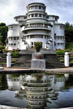 Villa Isola in Bandung, Indonesia Bandung City, Indonesian Art, Dutch East Indies, Castle House, World Cities, Semarang, Famous Places, City Photography, Travel Images