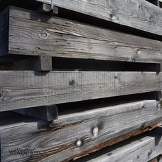 Harvest Timber provides a high quality weather wood alternative perfect for builders who want a rustic wood feel with the integrity of real solid wood. Barn Siding, Wood Siding, Weathered Wood, Rustic Wood, Big Design, House Design, Architecture Office, Rustic Modern, Exterior Design