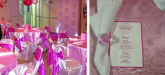 pretty in pink with bling baby shower room