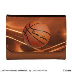 Cool Personalized Basketball Leather Wallet in three colors and sizes or choose the cheap nylon wallet or inexpensive faux leather. CLICK: http://www.zazzle.com/cool_personalized_basketball_leather_wallets-256168143271954904?rf=238147997806552929 Awesome basketball senior gift ideas for guys, basketball boyfriend gift and gifts for basketball lovers; More HERE: http://www.zazzle.com/littlelindapinda/gifts?cg=196808750908670951&rf=238147997806552929 CALL Linda 239-949-9090