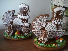 Perníky 2014 – Iva Palíková – album na Rajčeti Hens And Chicks, Easter Cookies, No Bake Cookies, Royal Icing, Cookie Decorating, Fondant, Gingerbread, Birthday Cake, Baking