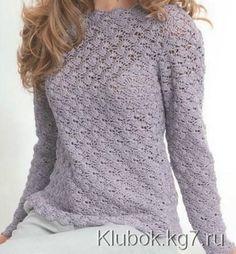 Пуловер крючком | Клубок