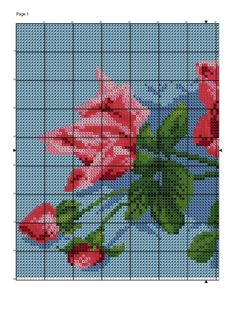 floral picture  cross stich patterns  @Anna Totten Totten Totten Halliwell Boyd Fontaine Collection