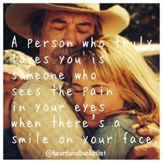 Heartland omg I love this saying was true