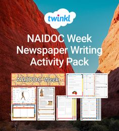 A great activity pack with everything you need to support your class with writing a newspaper article on NAIDOC week. Color Activities, Writing Activities, Naidoc Week, Newspaper Article, Teamwork, Encouragement, Packing, Bag Packaging