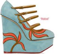art deco high heels