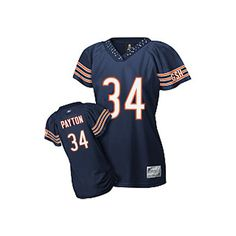 346e85bf7 order the new 2012 NFL Reebok Chicago Bears  34 Walter Payton Blue Women s  Field Flirt