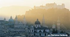A panorama view of Salzburg in March - info on March events, including Easter & Palm Sunday
