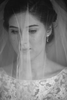 Delicate and simple cathedral veil