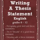 This is a PowerPoint that will help your students identify a good thesis statement. It helps your students understand why a thesis statement is a g...