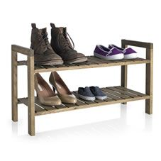 Decluttering and keeping your prize possessions safe can be difficult, so Wilko's range of home storage solutions offer a stylish way of keeping homes tidy. Wooden Shoe Racks, Uni Room, Smart Storage, Neat And Tidy, Wood Slats, Bedroom Decor, Saving Time, Mudroom, House Styles