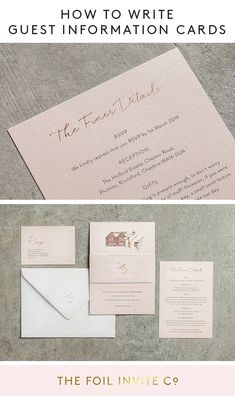 Wedding guest information cards are a great way to give guests all the extra details that don't fit on your wedding invitation. Here's what to include. Pink Wedding Colors, Blush Pink Weddings, Wedding Color Schemes, Wedding Stationery, Wedding Invitations, Wedding Blog, Wedding Ideas, Wedding Planning, Rest
