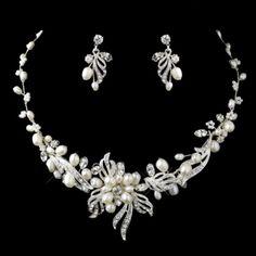 Elegance By Carbonneau Freshwater Pearl Wedding Jewelry Set $69