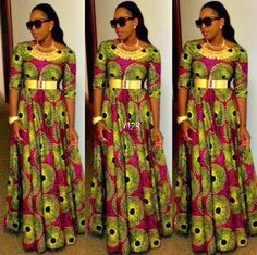 Long african dress, Love It~Latest African Fashion, African women dresses… African Print Clothing, African Print Dresses, African Fashion Dresses, African Dress, African Prints, Ankara Fashion, Women's Clothing, African Fabric, Clothing Styles