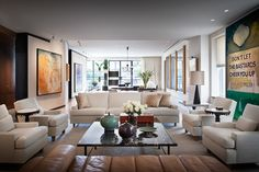 Contemporary Living Room in New York, NY by Thad Hayes